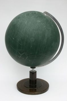 Globus by Kris Martin Berlin, Forest Color, Chalk Ink, Map Globe, Chalkboard Paint, Vintage Chalkboard, Decorative Objects, Contemporary Art, Fine Art