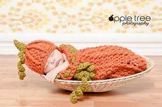 Chunky Pumpkin Hat & Cocoon by Crochet by Jennifer $4.95
