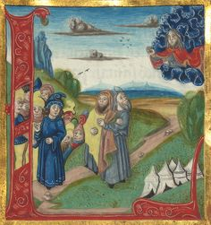 Illuminated Manuscript, Bible (part), God appears to Moses and a group of Israelites, Walters Manuscript W.805, fol. 78v | Flickr - Photo Sharing!