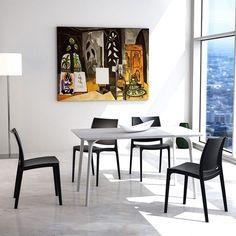lot de 4 chaises design maya - Chaise Eleven Patchwork Colors