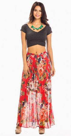 6b62e61f5d1a78 46 Best floral maxi skirt images