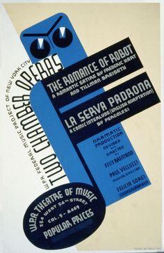 WPA poster ópera 1930