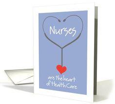 Nurses Are The Heart Of Health Card