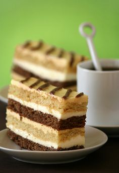 Chocolate, mango and coconut cream cake