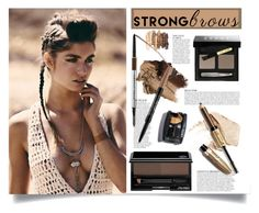 """Normal Brow"" by luna-jancek ❤ liked on Polyvore featuring beauty, NARS Cosmetics, Bobbi Brown Cosmetics, Shiseido, Anja, Marc Jacobs, NYX, BeautyTrend, strongbrows and boldeyebrows"