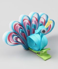 Take a look at this Blue Peacock Clip by Loopy Loos on #zulily today!