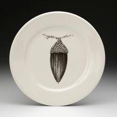 Laura Zindel Design - Dinner Plate: Black Oak Acorn, $50.00 (http://www.laurazindel.com/dinner-plate-black-oak-acorn/)