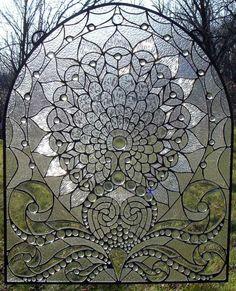 Aphrodite's Valentine Beveled Glass Window BL12