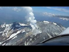 Flying Over Active Japanese Volcano 御嶽山