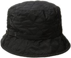 4f0b6446911f4 Women s Quilted Rain Bucket Hat - Black - CP12M1OFWJX