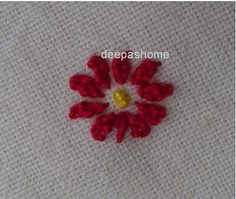 This and that...my random thoughts: Stitching small flowers? - Try this method!!