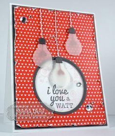 Light Bulb Love by Monika Davis vellum. Hearts (upside down) are the filaments.