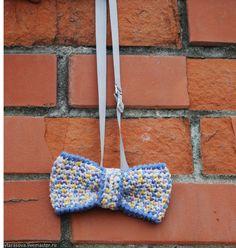 """Купить Галстук-бабочка вязаный """"Пёстрый акцент"""" 4 - разноцветный, галстук-бабочка, галстук бабочка"""