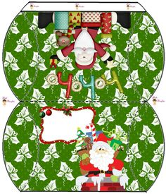 Caja almohada navideña