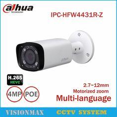 Dahua CCTV 4MP POE IP Camera IPC-HFW4431R-Z IR H.265 2.8mm ~ 12mm Zoom Onvif WDR IP66 Outdoor Night versie bewakingscamera
