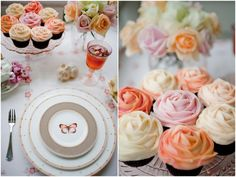 {Cupcake Love} Petal Cupcakes | A stunning alternative to wedding cake and oh so perfect for springtime! #springweddings