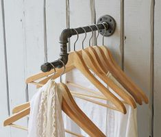 Industrial Single Clothes Rail - stands, rails & hanging space