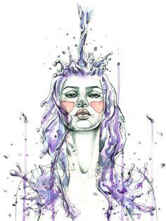"""Aquarius"" Art Print by Mia Desu | Society6"