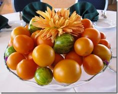 LoCoFloBlog: Fruity Options for Wedding Centerpieces