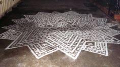 "The kolam, or ""rangoli"" is a traditional mandala in India Big Rangoli Designs, Mehndi Designs, Kolam Rangoli, Beautiful Mehndi Design, Colored Sand, Love Art, Hd Wallpaper, Pattern, Prints"
