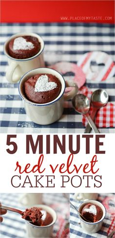 Dessert in 5 minutes? Yep, it is possible! Come and learn how to make these pretty red velvet cake pots!!