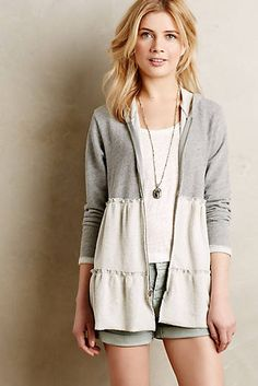 Cute - I have a grey hoodie that's been waiting in my refashioning stash for quite a while - Tiered Swing Hoodie