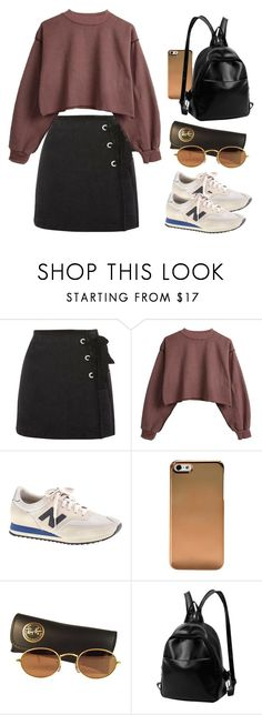 """Sin título #4087"" by beel94 ❤ liked on Polyvore featuring Topshop, J.Crew and Ray-Ban"