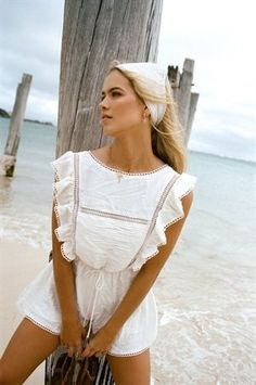 Haven Playsuit by SABO SKIRT Poor Little Rich Girl, Price Model, Sabo Skirt, Australian Fashion, Vacation Outfits, Fashion Labels, Playsuits, White Fabrics, Girl Fashion