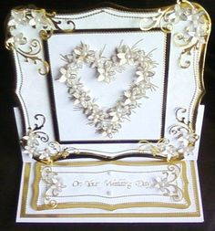 Wedding Easel Card ( Using Chloes Heart stamps ) by: snoflake