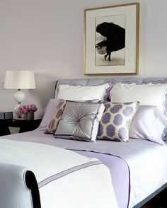 Lilac Bedroom So chique and girly. Would love to have a bedroom like this.