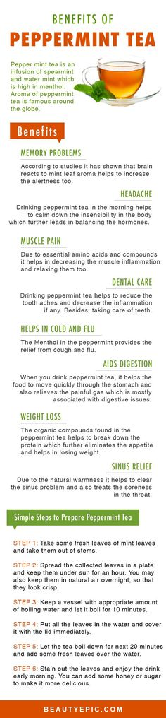 12 Amazing Health Benefits of Drinking Peppermint Tea