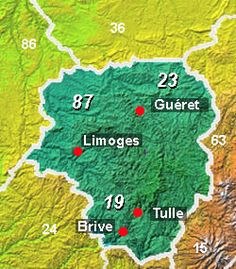 Map of Limousin, mostly rural. Once A Roman city, Limoges (famous for porcelain), lies on the river Vienne and on a main route between Paris and Toulouse Toulouse, Paris Tourist Attractions, Roman City, French Property, Limoges, Dordogne, Limousin, Aquitaine, Paris Travel