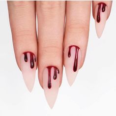 Unique Halloween Nail Designs for Bold Women 2018 The best and creative ways for nails designs to make your hands' look more acute than before. You can see here a lot of best ideas of Halloween nail designs for women of various age groups. Ongles Gel Halloween, Nail Art Halloween, Halloween Nail Designs, Halloween Halloween, Halloween Coffin, Goth Nails, Chic Nails, Fun Nails, Pretty Nails