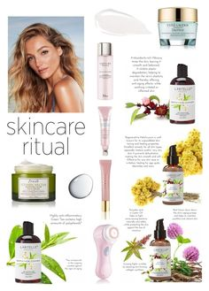 """The best for your skincare routine"" by nathaliagoomes on Polyvore featuring beleza, Fresh, Clarisonic, AERIN, Clé de Peau Beauté, Estée Lauder, Christian Dior e Too Faced Cosmetics"