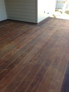 Concrete painted to look like wood- for front porch