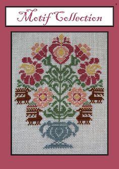 Vase of Flowers 123 Cross Stitch, Cross Stitch Heart, Cross Stitch Samplers, Cross Stitch Flowers, Cross Stitching, Cross Stitch Embroidery, Vintage Cross Stitches, Vintage Embroidery, Modern Cross Stitch Patterns