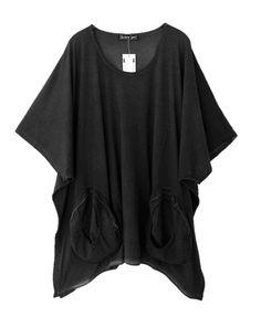 Barbara Speer Lagenlook Shirt Tunika in anthra old look Übergrößen bei www.modeolymp.lafeo.de