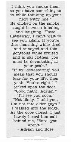 Vampire Academy Quotes   Adrian Ivashkov & Rose Hathaway  