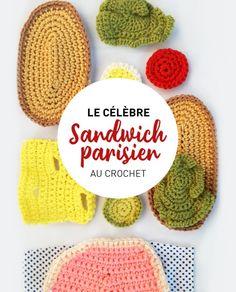 Vous êtes en panne d'idées créatives pour amuser les enfants ? Dans ce tuto, nous allons vous montrer comment créer une dinette au crochet ! Tomates, oeuf, salade, jambon, fromage, rassemblez les ingrédients et suivez la recette ! Crochet Diy, Crochet Amigurumi, Crochet Food, Crochet Hats, Knitting Patterns, Crochet Patterns, Panne, Wool, Sewing