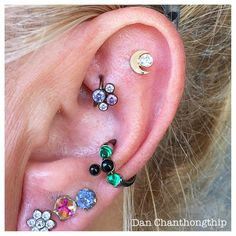 Variety is the Spice of life! Anatometal 18k Yellow Gold Moon & CZ…