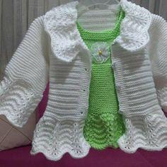 Filet Crochet, Crochet Shawl, Crochet Baby, Knit Crochet, Baby Knitting Patterns Free Newborn, Baby Cardigan Knitting Pattern, Designer Knitting Patterns, Knitted Jackets Women, Baby Girl Sweaters