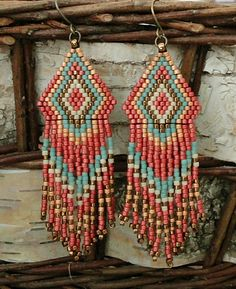 Linda's Crafty Inspirations: Native American Fringe Earrings - #78
