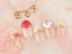 お正月限定デザイン ¥7700 Luv Nails, New Year's Nails, Hair And Nails, Kawaii Nail Art, Japan Nail, New Years Nail Art, Negative Space Nails, Transparent Nails, Classic Nails