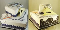 Fondant Graduation Cake with Architect theme