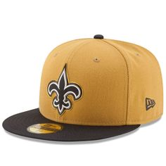 c72a397a936 New Orleans Saints New Era Gold Collection 59FIFTY Fitted Hat - Gold