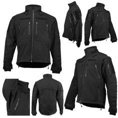 Mil-Tec Tactical Softshell Jacket Black