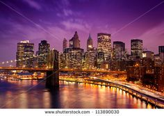 Skyline of downtown New York - stock photo