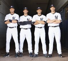 Core Four: Derek Jeter, Jorge Posada, Mariano Rivera and Andy Pettitte