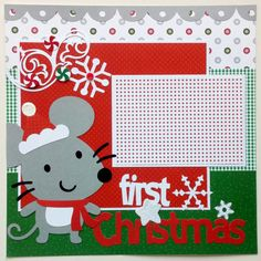 Baby's First Christmas premade scrapbook  by ohioscrapper on Etsy