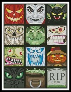 Halloween Minis Cross Stitch Pattern